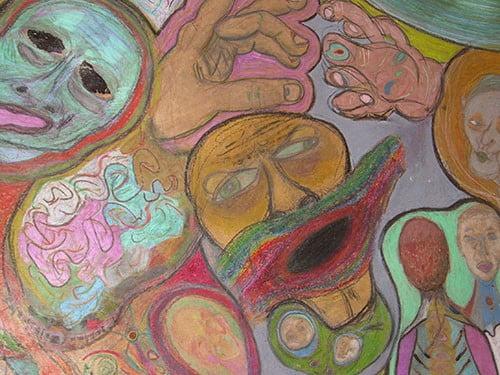 Trabalho artístico realizado em sala de atendimento psicológico